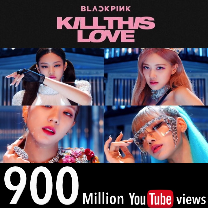 #BLACKPINK's #KillThisLove MV Hits #900MILLION Views @Youtube, their 3rd video to reach the milestone  following #DDUDUDDUDU & #BOOMBAYAH!@BLACKPINK @ygofficialblink #JISOO #JENNIE #ROSÉ #LISA  #killthislove900m   https://www.facebook.com/worldmusicawards/posts/3119372948143797…pic.twitter.com/gCioKQagxM
