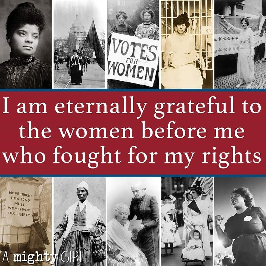 Eternally grateful to the women before me who fought for my rights! 💪 @amightygirl