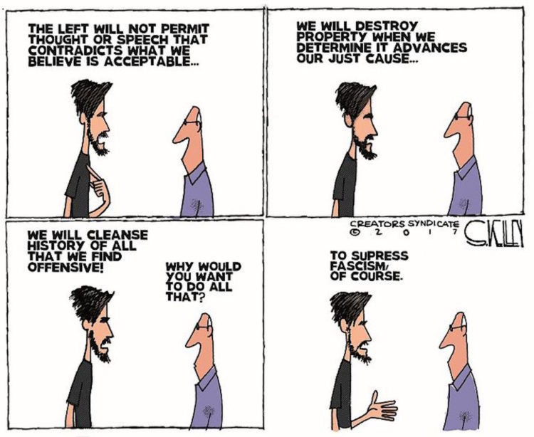 Liberal Lunacy on BLM, Antifa and 'Fascism' Summed Up By One Cartoon http://www.stationgossip.com/2020/07/liberal-lunacy-on-blm-antifa-and.html…pic.twitter.com/ZQFG08ucp1