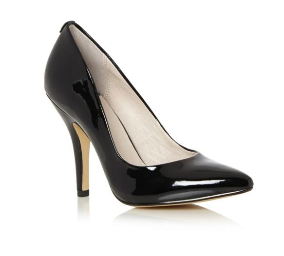 My Shoe Collection: Pair #17 Black Faith Patent Pointed Courts from Debenhams. 4 inch heel (10cm). I havent made a shoe post in ages so here is another pair from my collection 😊 #Shoesday #Shoes #Highheels #heelsaddict #Stilettos #ShoeBlog #inlovewithshoes