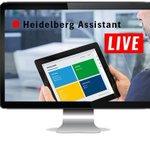 Image for the Tweet beginning: Heidelberg Assistant Webinar. Falls Sie