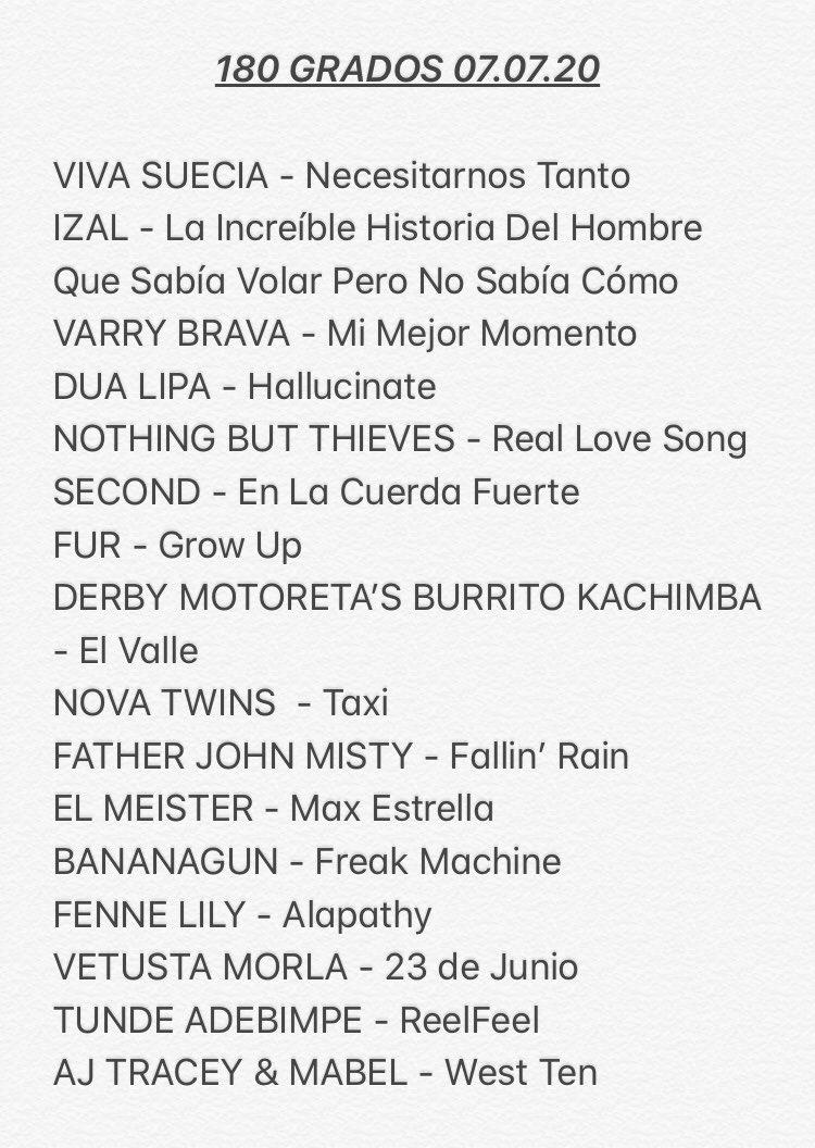 Hablamos de giras y de conciertos que se vuelven a aplazar y escuchamos lo nuevo de @el_meister, @secondmusic, @FenneLily, @FURMUSIC, @fatherjohnmisty... Todo, en este #Podcast https://www.rtve.es/a/5619224/ #180GradosR3 @radio3_rne pic.twitter.com/utaQ2tOh2O