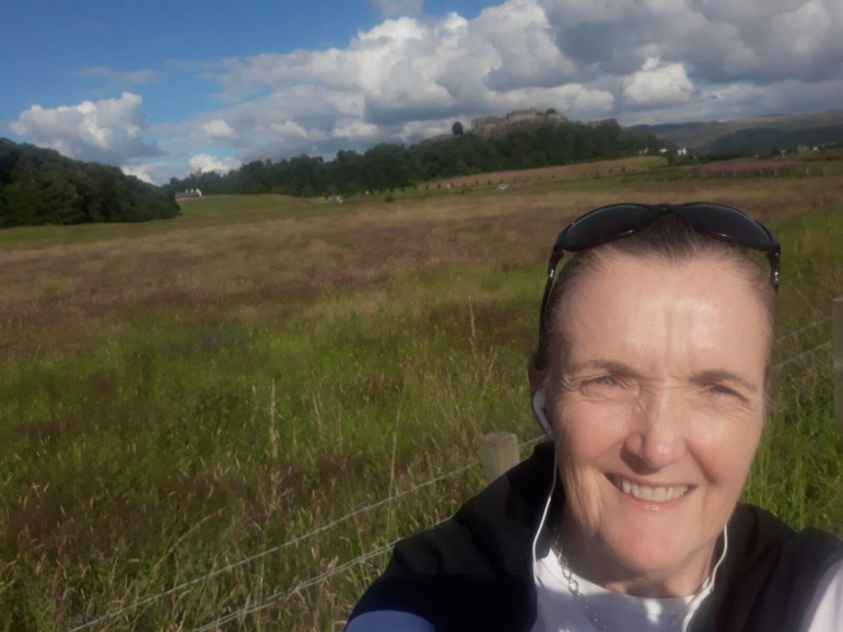 """What a lovely sunny #walkandtalk with @jacqueline_lynn☀️ Was great to chat about our new """"normal"""", what we have been doing to keep busy in lockdown and a general chitchat 😊 Can't wait to have a socially distance walk soon and maybe some cake 👀🧁 @sportscotland @SAMHtweets https://t.co/ApLjo8Dj1z"""
