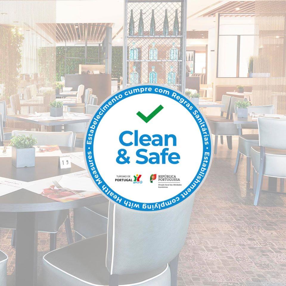 """No El Corte Inglés todos os estabelecimentos de restauração estão certificados com o selo """"Clean&Safe"""", cumprindo assim todas as normas e recomendações estabelecidas pela DGS.  #elcorteinglespt #cleanandsafe https://t.co/LoVAxvDCrH"""