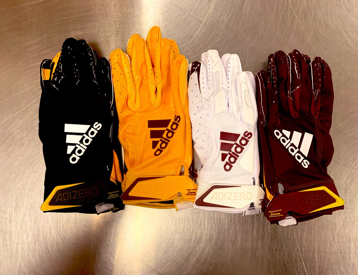 New @adidasFballUS adizero gloves came in today!!!! Anyone care to guess the new palm logo @ASUFootball will be rocking this year? We will post the answer later today! https://t.co/OGKsomcqjV