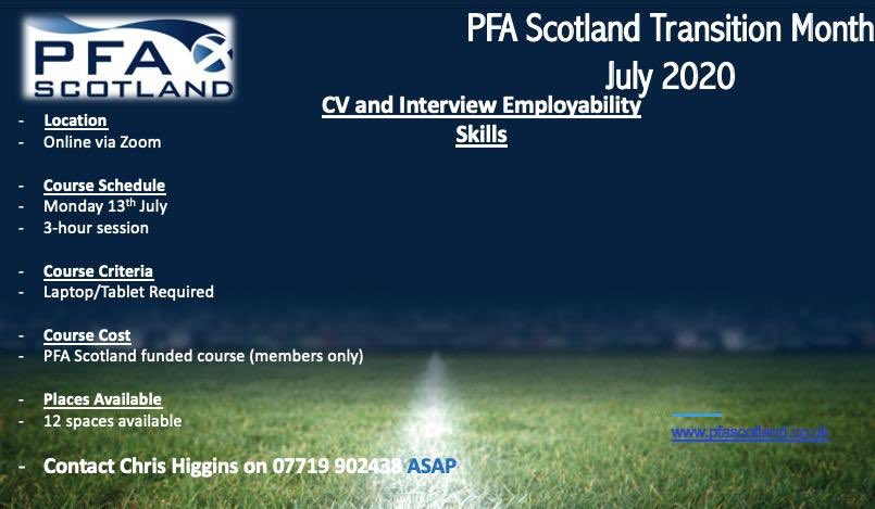 ⚽️CV & Employability Skills⚽️ Learn the #vitalskills of how to put together a top CV and navigate your 1st ever interview as part of our #TransitionMonth course. Contact @ChrisPFAS on 07719 902438 to book your place #prepare #futureplanning #pfas #members https://t.co/zWj89Lwodu