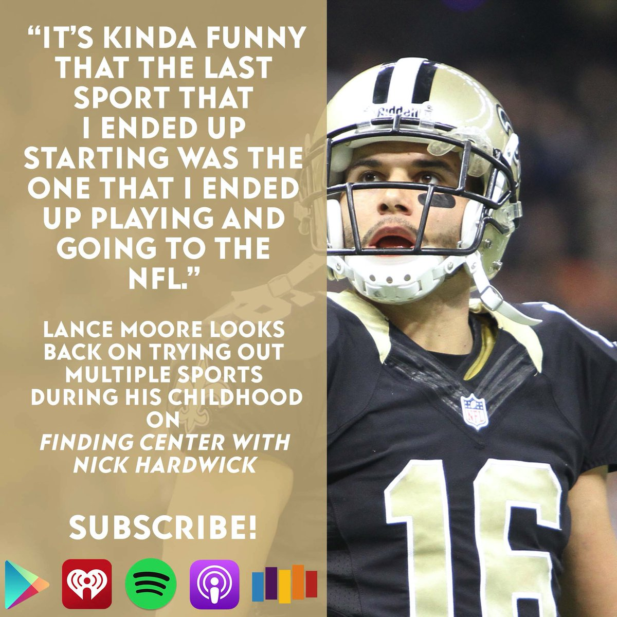 Did you know Super Bowl champion @LanceMoore16 got his black belt in karate when he was a child? This week host @NickHardwick has Moore on the show for an episode you won't want to miss! Check out Finding Center with Nick Hardwick here: podcasts.apple.com/us/podcast/fin…
