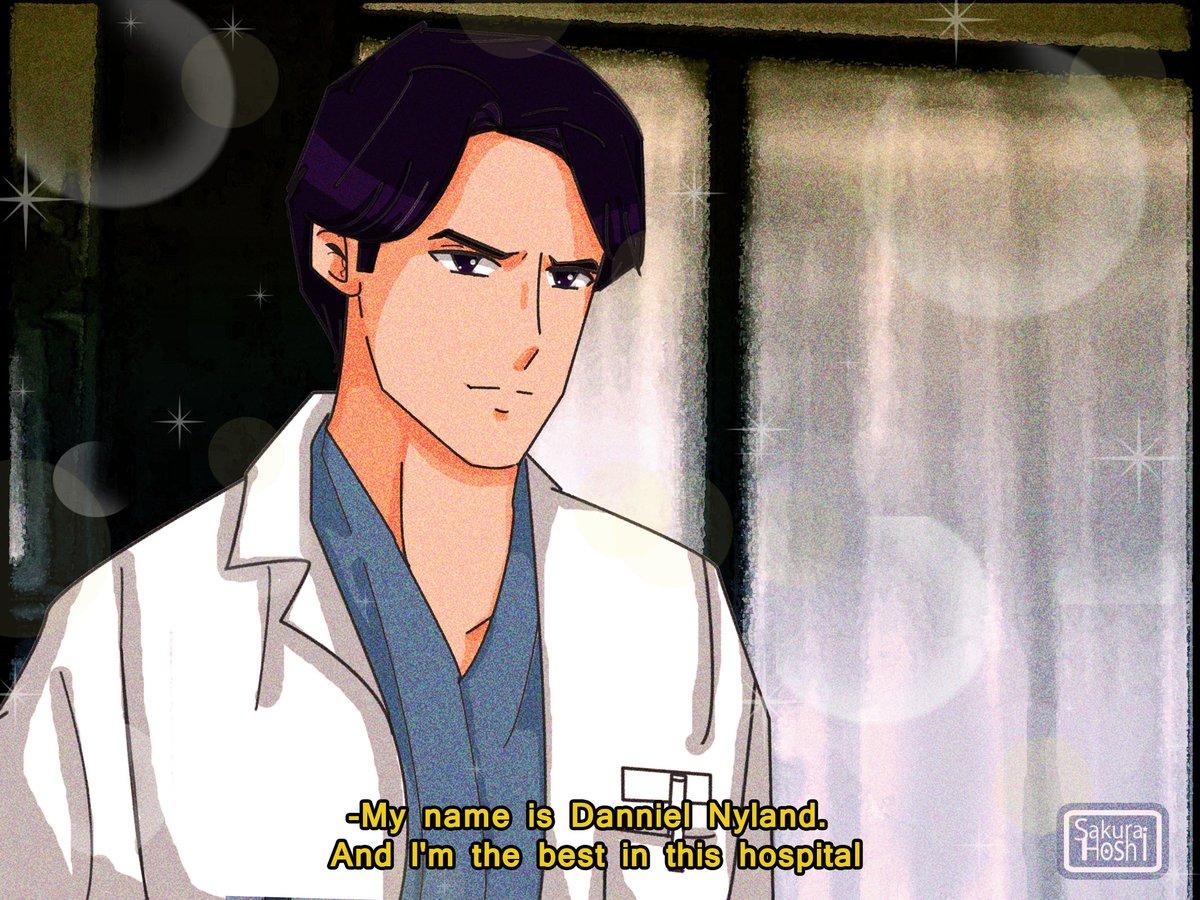 *Dr. #DannielNyland (u ///u) #Fanart/Re Draw: ©Hoshi Sakurai Original Serie: #ChicagoHope #90sAnimeAesthetic #FakeScreenshot #AnimeStyle #ThomasGibson #FakeAnimeScreenshot pic.twitter.com/CGt8P5BbkT