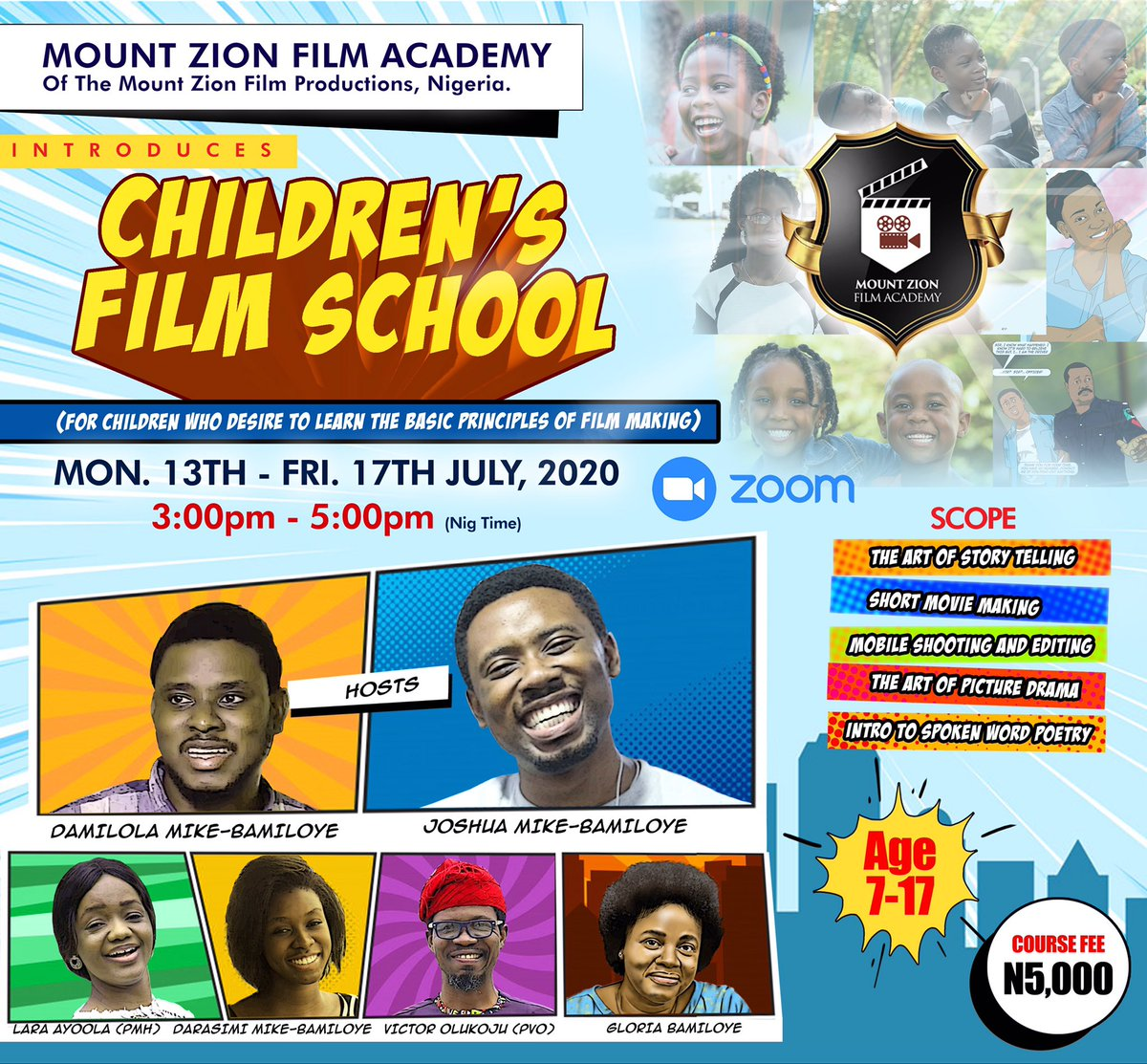 Click this link to register for the Children's Film School starting Monday next week to Friday! https://t.co/9aggqVN1bT https://t.co/omm1IivjRP