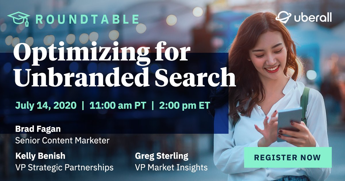 Does an #unbrandedsearch put your clients' search rankings into free fall?   Join our #digitalmarketingagency webinar on 7/14: Optimizing for Unbranded Search. Register: https://bit.ly/2Zmhsn1 pic.twitter.com/otZd1J0j9V