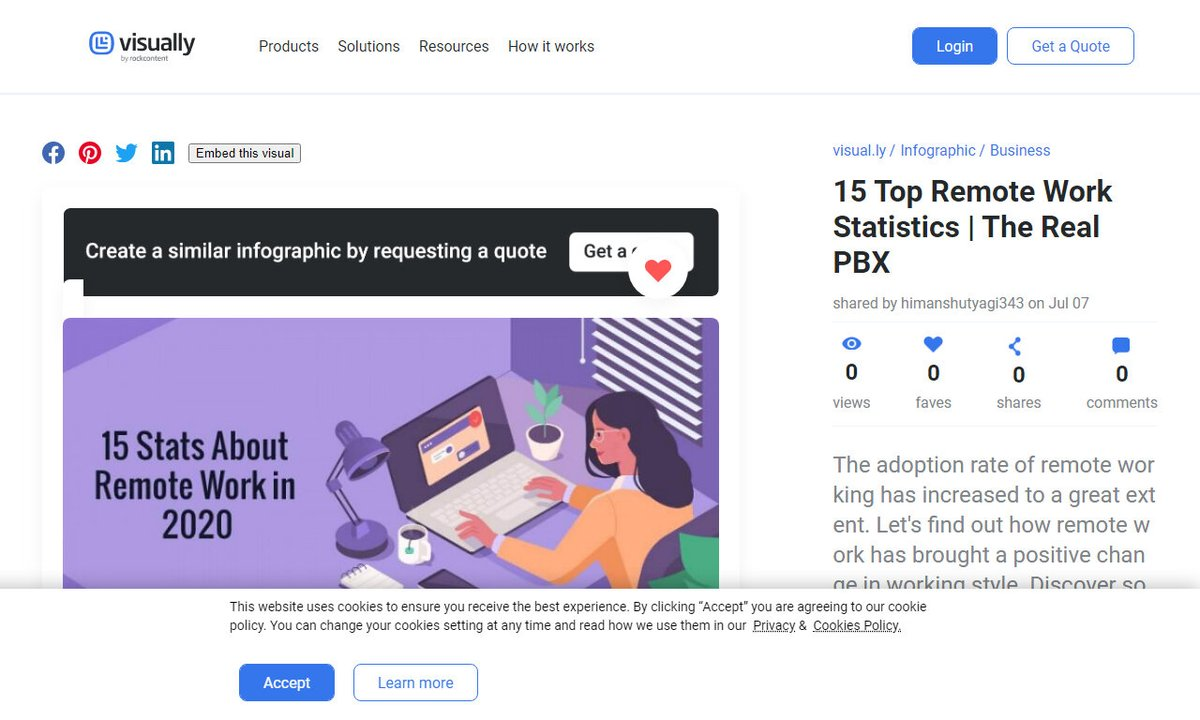 15 Top Remote Work Statistics   The Real PBX #adoptionrateremote #positivechange #style #topremoteworkstatistics #stats #remotework via  http:// visual.ly     ☛  http:// amp.gs/wIUw    <br>http://pic.twitter.com/ML3JMdZpxn