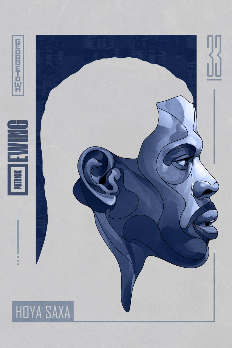 Legend of Georgetown: Patrick Ewing. 1984 National Champion. 1985 National College Player of the Year. #HoyaSaxa #hoyas #georgetownbasketball #georgetownhoyas #Georgetown  #nationalchampion #patrickewing #ewing  #basketball #NBA #Knicks #Illustration #JackCGregory #GraphicDesign https://t.co/9G7sgANDeu