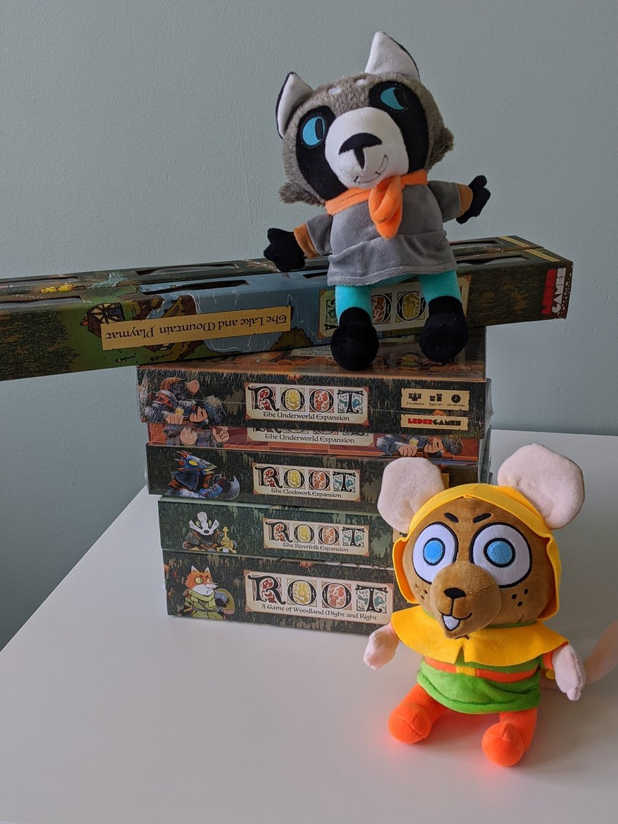 Victory Mouse and Roger are excited to host the #RootBoardgame unboxing live stream today at 2PM CDT ... @PatrickLeder and @BickNachmann will be helping too! https://t.co/9vOe2B3Q01
