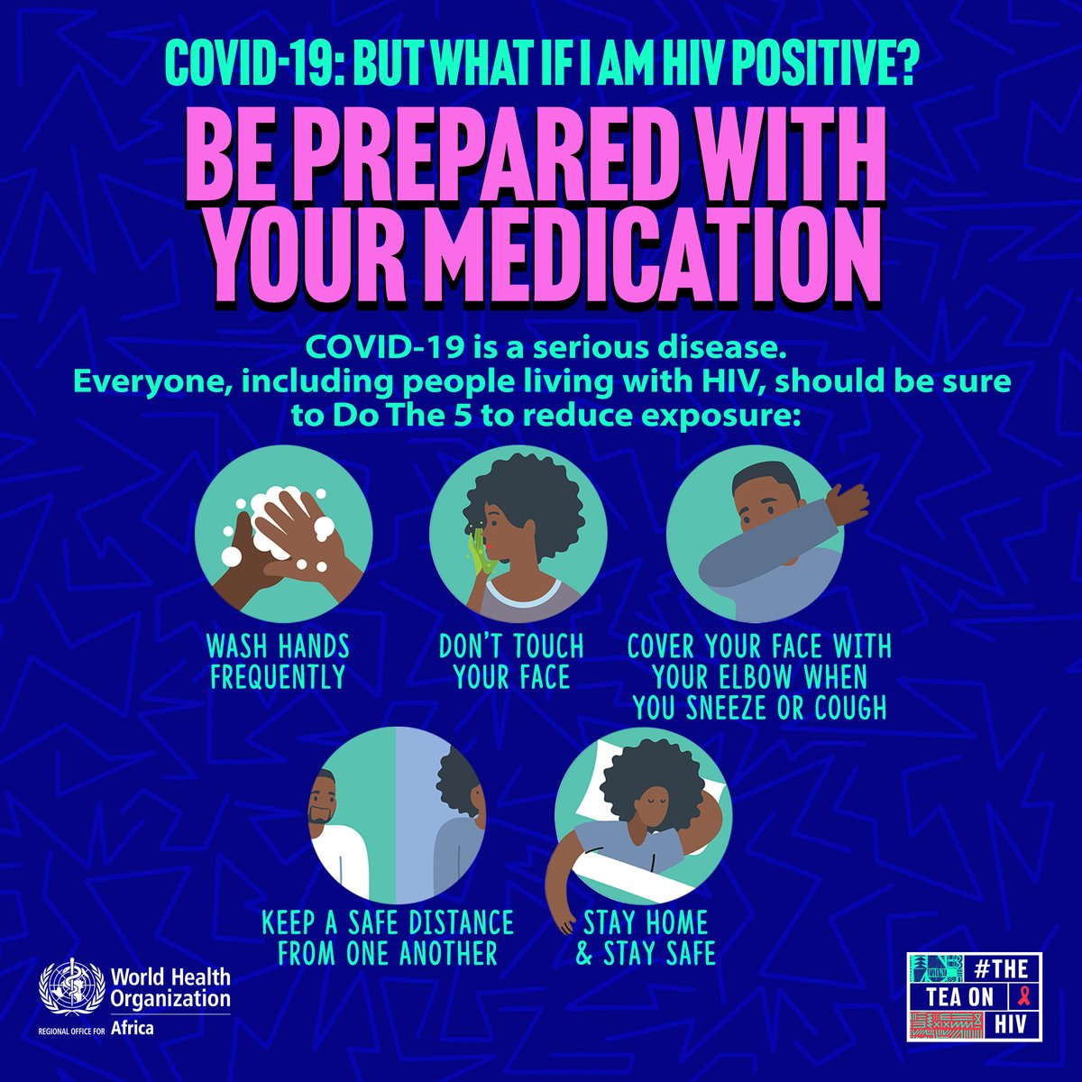 Keep at least a 90 day supply of your medication on hand, not to risk running out during #COVID19 lockdown.   Get your local pharmacy's contact number or inform a friend about how to arrange for more medication to be delivered if you get sick. #AIDS2020Virtual https://t.co/JJHw7hXc7q