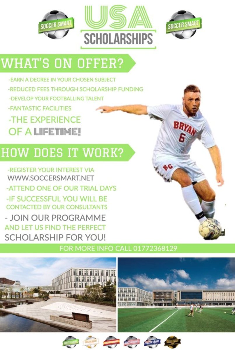 Coaches in 🇺🇸are still preparing for next season and are in need of players!    Play full-time football and earn a degree in a life-changing soccer scholarship experience!  #PlayAbroad #SmartPlayer https://t.co/uhOAdEI1bf