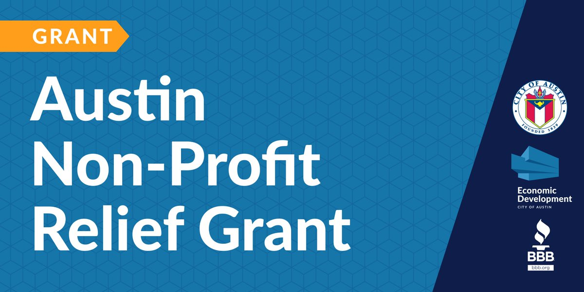 Applications OPEN for @austintexasgov Austin #NonProfit Relief Grant! In partnership with @CentralTexasBBB, this grant provides up to $20k for #COVID19 business expenses.   💰 $6M 🔎 Review eligibility + submit application by 7/24 📌 https://t.co/0gbTWJGkIM https://t.co/xTFlpbCKfq