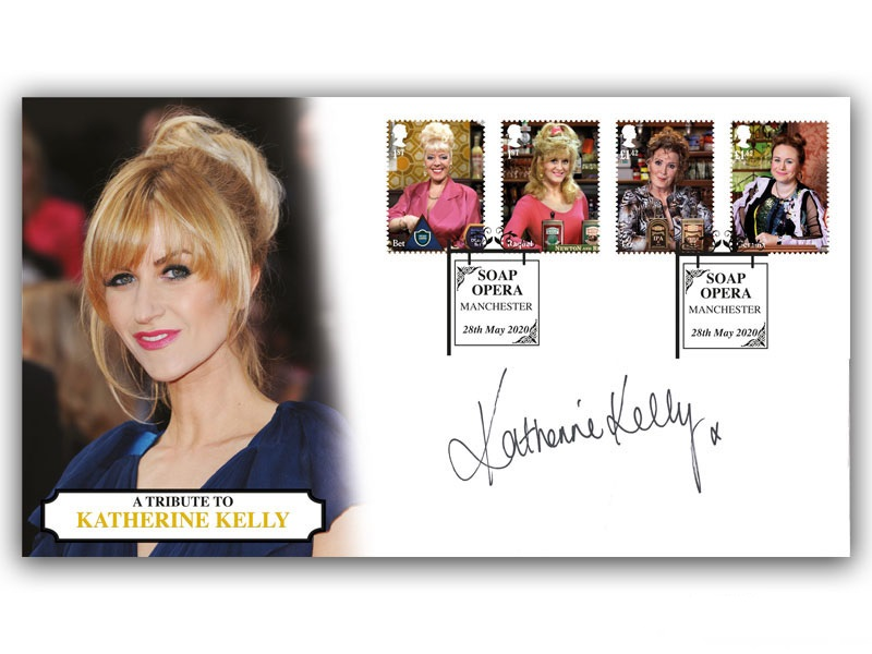 Delighted to announce that as part of the Coronation Street release,@katherine_kelly has asked for her £1,000 fee to be donated to @whenyouwishUK  Few autographed items are left, order via https://t.co/fwYhRAR0NF and we'll donate a further 30% to the charity 😁 #Corrie #stamps https://t.co/4KdHlg6GTK