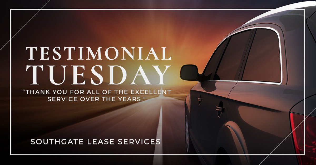 """""""I was always impressed by…[how] the staff at dealerships or repair facilities went out of their way to tell me how much they enjoyed dealing with Southgate.  -Jim Porter, Northwestern Mutual   Thank you, Jim, for your kind words.  #Southgate #Lease #Leasing #CompanyCar #Fleet https://t.co/qXwljgzKQJ"""