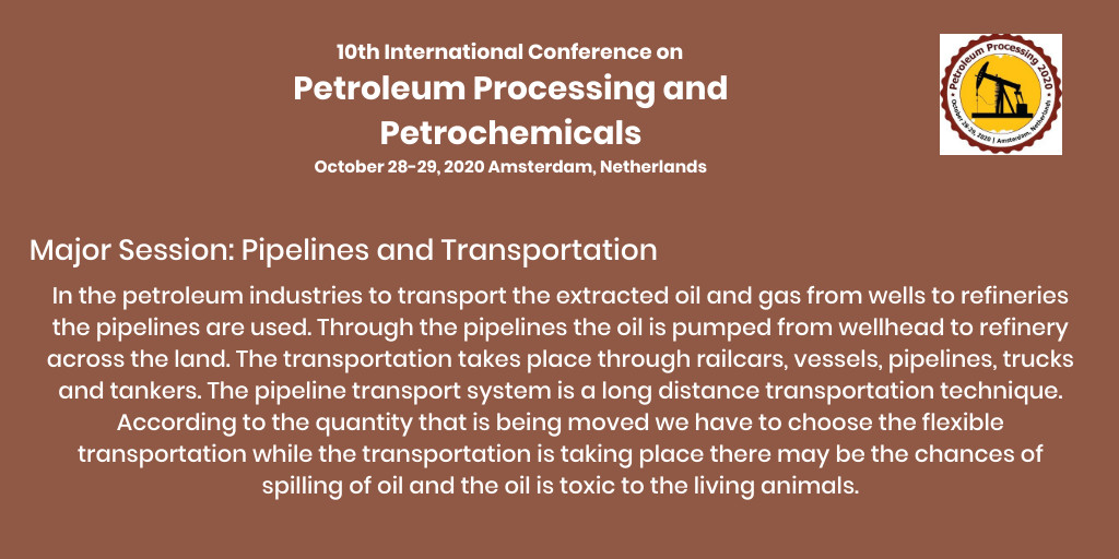 International Conference on #Petroleum #Processing #petrochemicals for more details contact us at petroleumprocessing@europeconferences.compic.twitter.com/RLbRd3gFyz