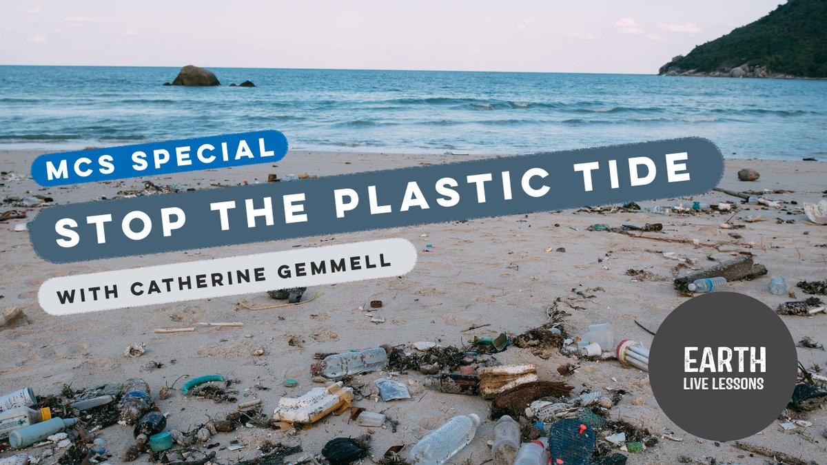 STOP THE PLASTIC TIDE 🌎😱✋❌ Watch the full #EarthLiveLesson with @mcsuk @cathgem2000 👇 youtube.com/watch?v=s7qC1s… Join Catherine Gemmell to discuss ocean optimism, take part in a marine litter timeline game and find out what steps we can all take to help stop the plastic tide