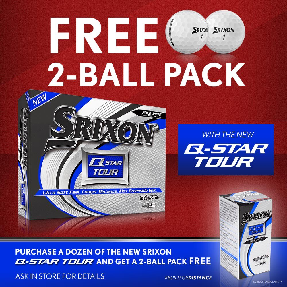 Buy a dozen @SrixonEurope Q-Star Tour and get a 2 ball pack FREE👍 Available at all @EuroselectGolf stores in store and online while stocks last #QStarTour