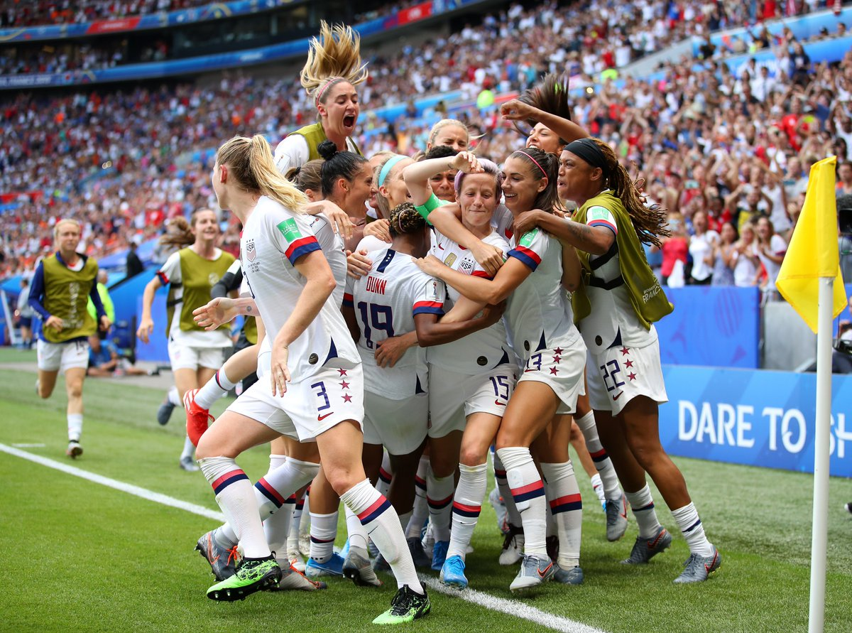 One year ago today, the @USWNT won the 2019 @FIFAWWC 🏆 https://t.co/OZFYx3kvgU