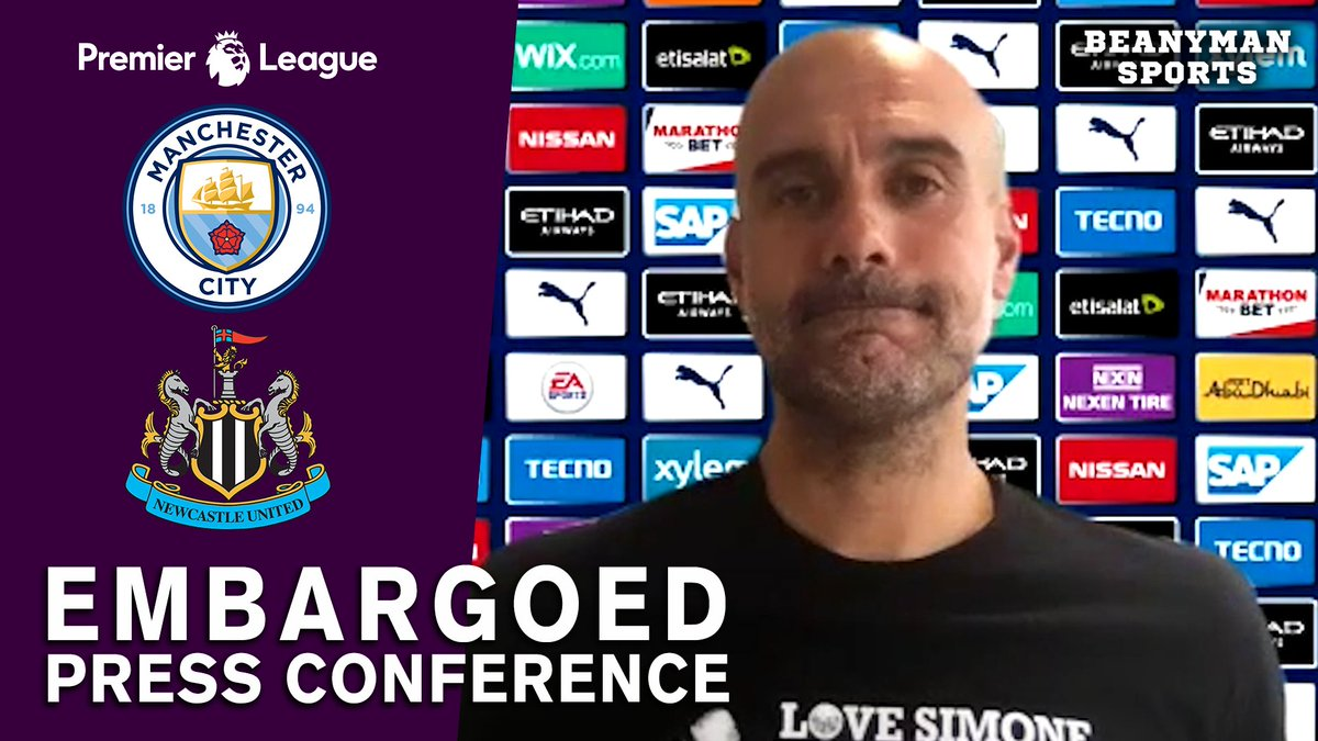 VIDEO - Pep Guardiola EMBARGOED Pre-Match Press Conference - Man City v Newcastle - Premier League https://t.co/LZ7nkfcSSn PLEASE SHARE! https://t.co/cp3egWKGw7