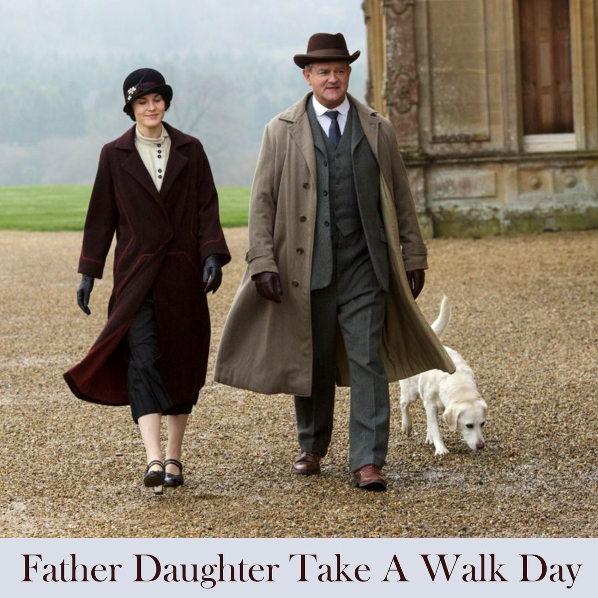 Whether it's around the estate or just around the corner, #FatherDaughterTakeAWalkDay (July 7) provides a nice excuse for a little extra family bonding and physical exercise. #DowntonAbbey <br>http://pic.twitter.com/EUAvkkmdfp