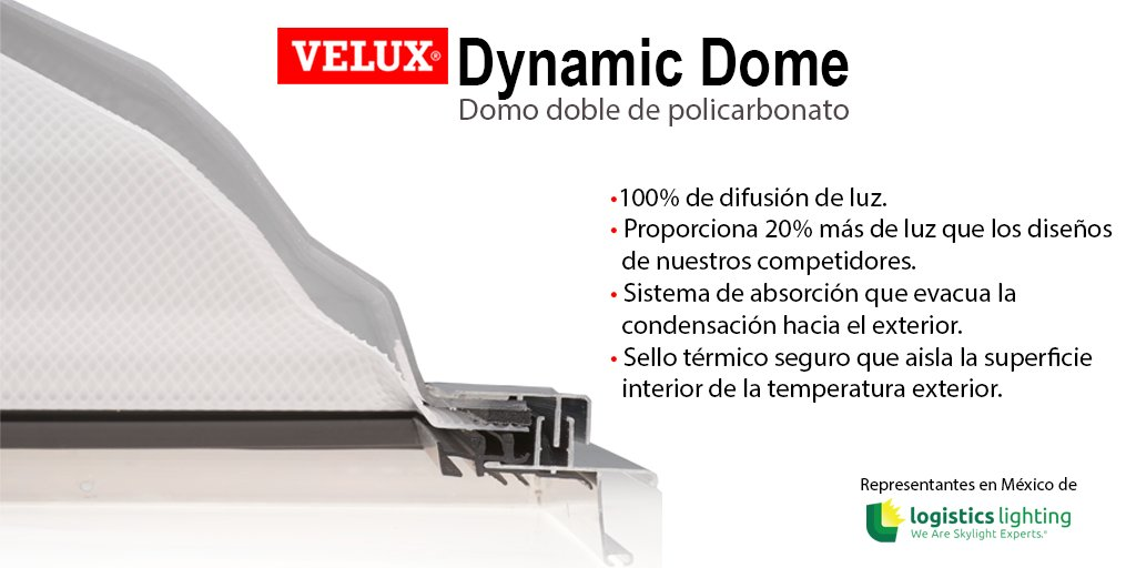 ¿Sabías que los #Domos Dobles de #Policarbonato de @VELUX proporcionan 20% más luz que los de nuestra competencia? ¡Contáctanos! Somos representantes de #LogisticsLighting en #México. #ShelterMX #DomosDinámicos #DynamicDome #Velux https://t.co/qBiGgPynKI