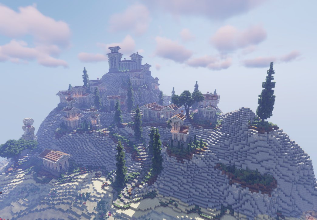 A Greek build on some really nicely made terrain, built by SteinV15  Follow @CamedGaming  _________________  #minecraft #minecraftmeme #minecraftmemes #meme #gaming #games #robloxmemes #minecrafter #cursedimages #tiktokmemes #cursedimage #diamonds #videogames #wholesomememespic.twitter.com/kqd4YPqcqn