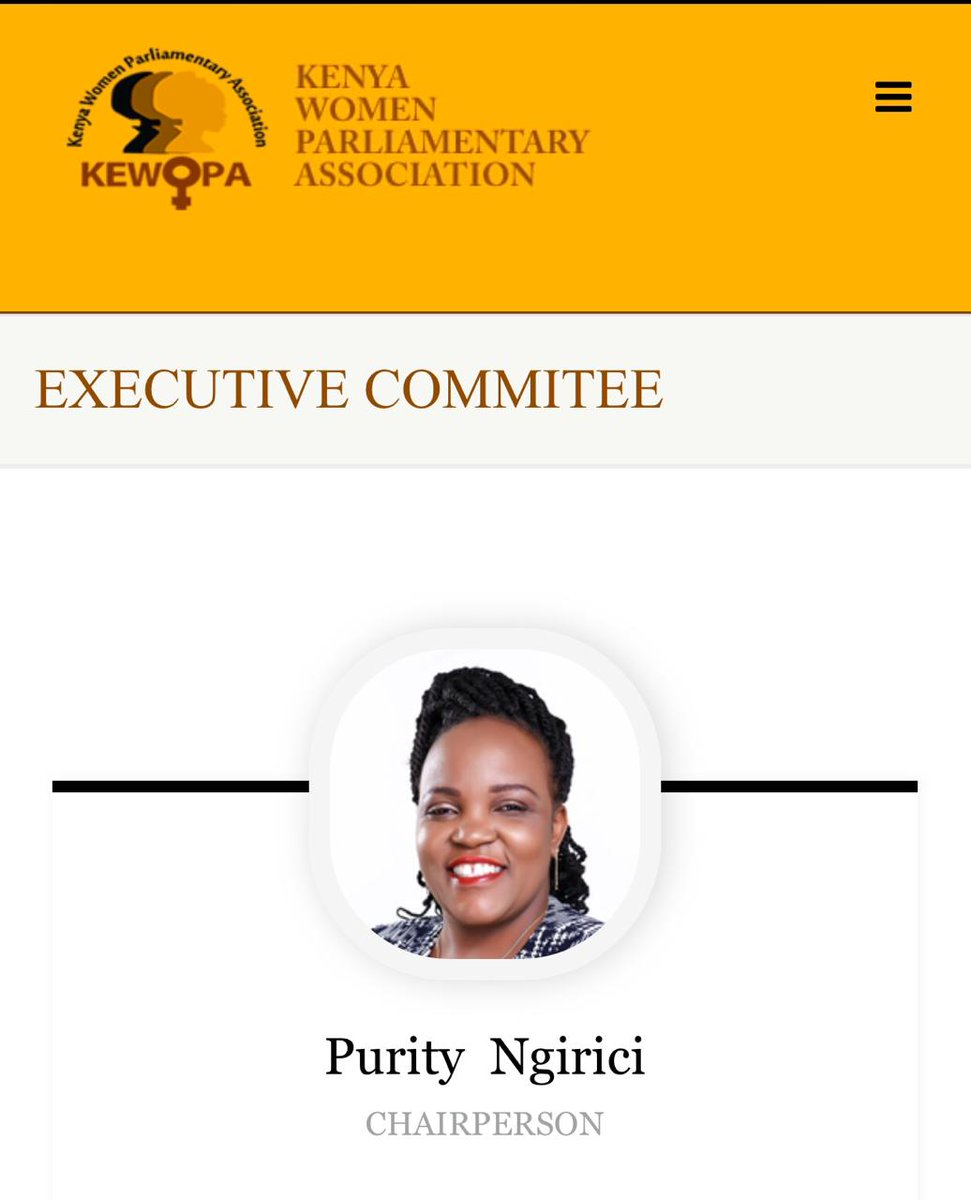 STATEMENT ON KEWOPA LEADERSHIP NAIROBI, 7TH JULY, 2020 I have just received news that I have been removed as the KEWOPA chairperson through a special general meeting held today and Hon. Gathoni Wamuchomba elected as the new Chairperson.