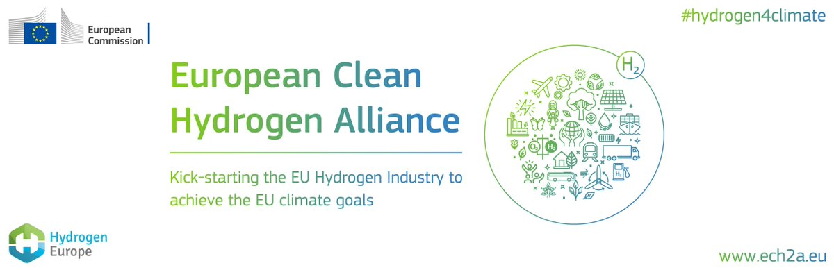 Tmrw @EU_Commissions EVP @TimmermansEU, Commissioner @KadriSimson & Commissioner @ThierryBreton will launch at 16:00 the EU #CleanHydrogen Alliance. Industry, member states, regions, civil society and investors will also be there! Agenda & webstream link: hydrogeneurope.eu/events/europea…