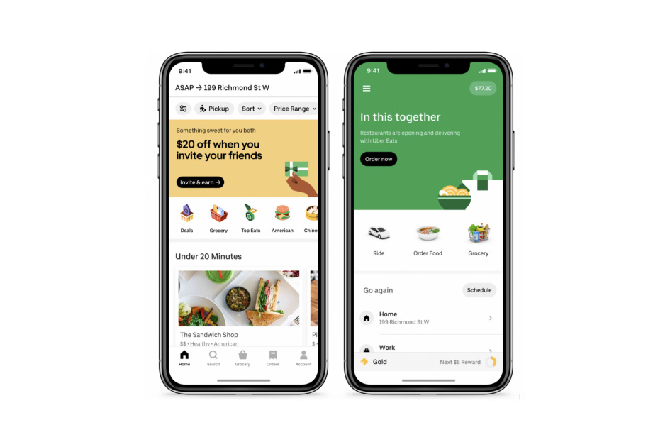 Uber adds groceries to its growing food delivery options