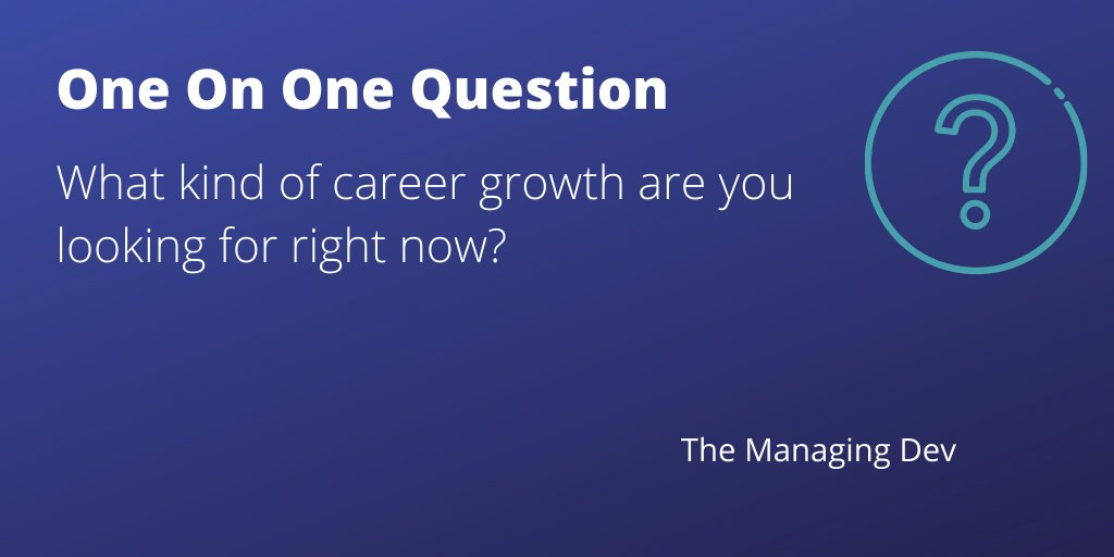 One on one question to start a career conversation. #QuestionOfTheDay #oneonones #careerdevelopment pic.twitter.com/nBhtt3w7td