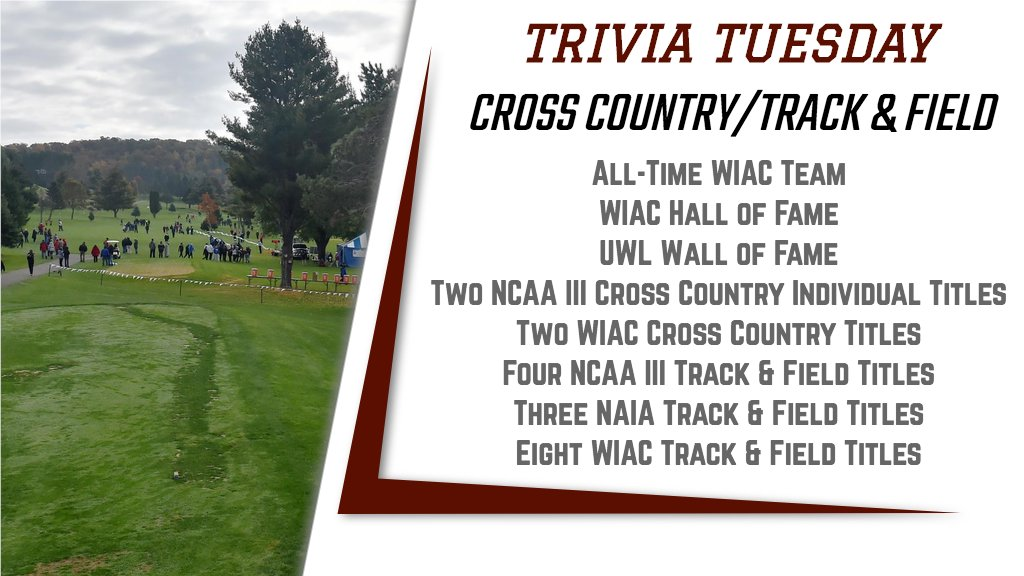 It's Tuesday, time for some UWL Athletics trivia. We'll post the answer (and more accomplishments) at 11 a.m. #TriviaTuesdaypic.twitter.com/tOnYjbFa81