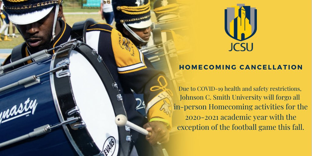 Your safety is our top priority. JCSU will not have in-person Homecoming Activities and Commencement Exercises this fall. Visit https://t.co/zLvp0EDAci to read more. https://t.co/xK90g4Ez8w