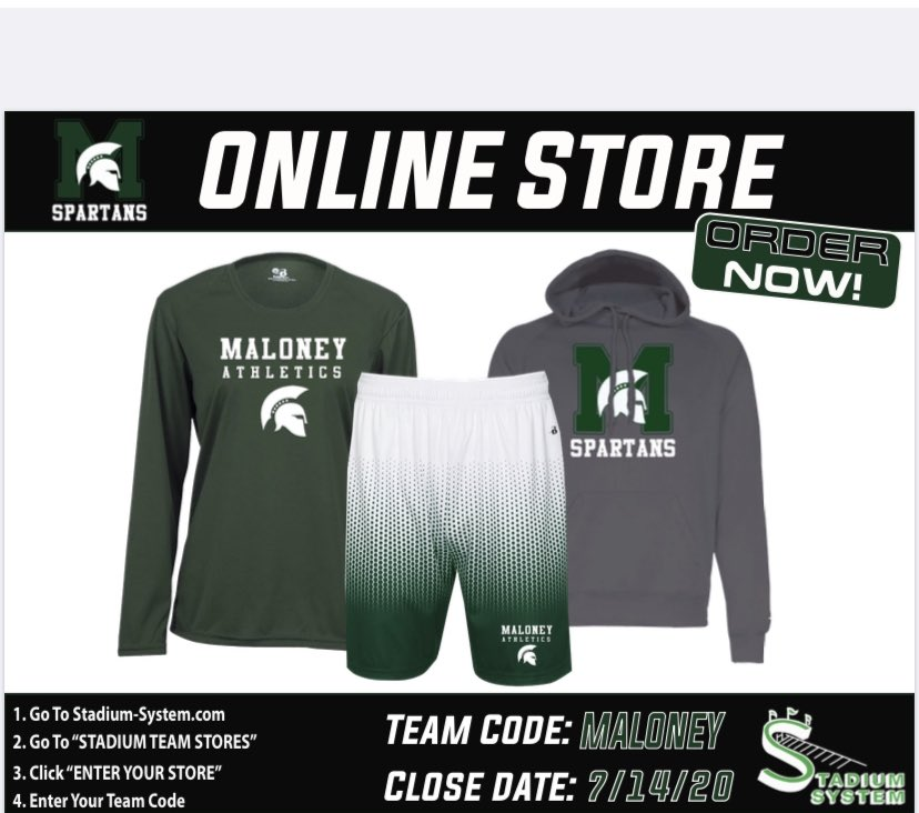 Looking to purchase new Spartan gear before school or the Fall season starts? The site will close on July 14th. When the site closes, orders will be processed as a group and then shipped to the address entered at checkout. Please allow 4 weeks of processing time. FREE SHIPPING!pic.twitter.com/bDF3wIFI8d
