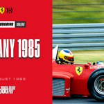 August 2nd 1985 ➡️ The Nürburgring morphs into a new generation 🇩🇪 https://t.co/ErhX0rnXAi  Michele Alboreto seized the opportunity at the Eifel Circuit to take his fifth and last victory in #F1 🏆  #essereFerrari 🔴 #100x1000GP #RoadTo1000