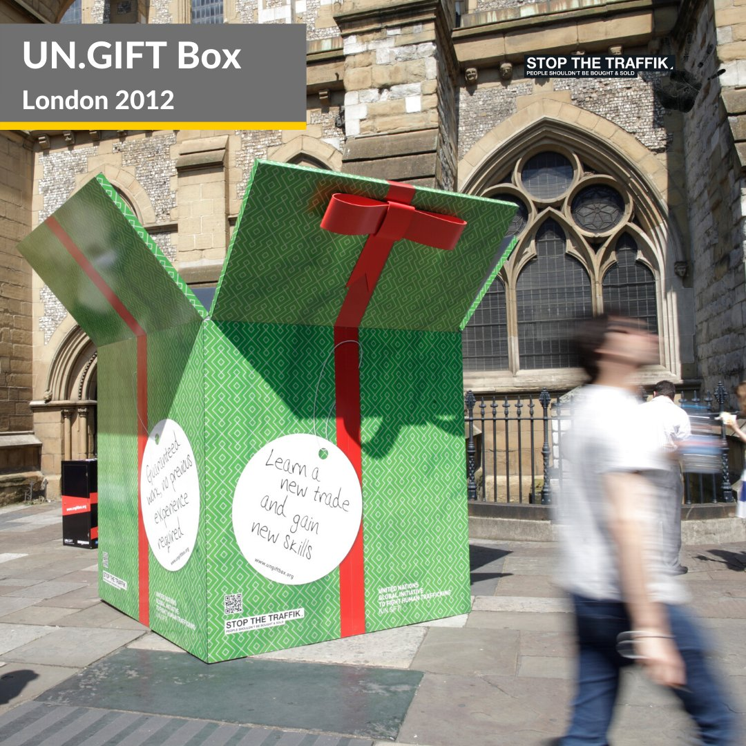 STOP THE TRAFFIK GIFT Boxes raised awareness of trafficking by evidencing the common method traffickers use to appeal to victims: an attractive promise with an ultimately negative reality. Theyve now been used all over the world. More here: buff.ly/3f2WVKQ