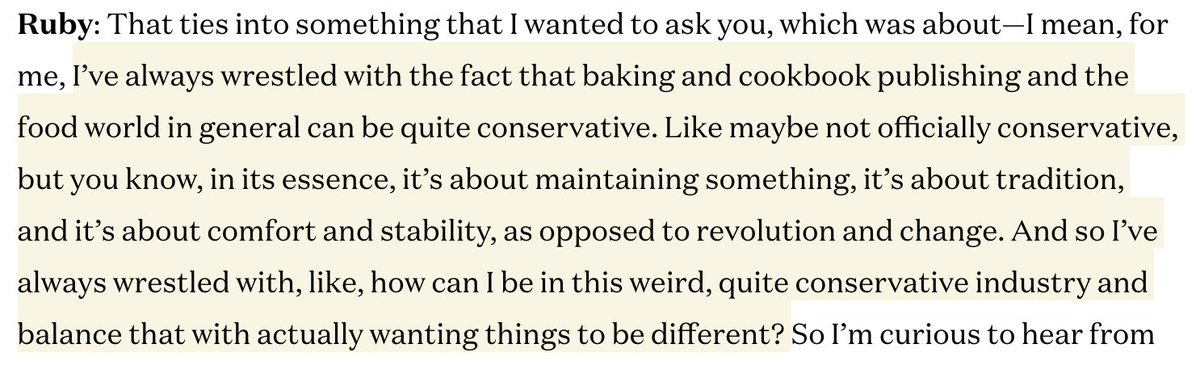 This conversation between @FoodieInNewYork and @rubytandoh is so good. tastecooking.com/vallery-lomas-…