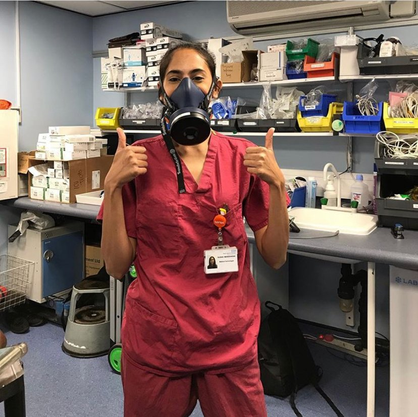 We love this photo of Susan, ICU Medical Technologist at @GSTTnhs, sharing her joy at two patients leaving intensive care. Susan said I am smiling underneath that mammoth mask, but I got so emotional when waving the patients goodbye. Read more 👉 instagram.com/p/CCV6pcPsM2w/