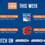 Image for the Tweet beginning: This week's schedule of #Isles
