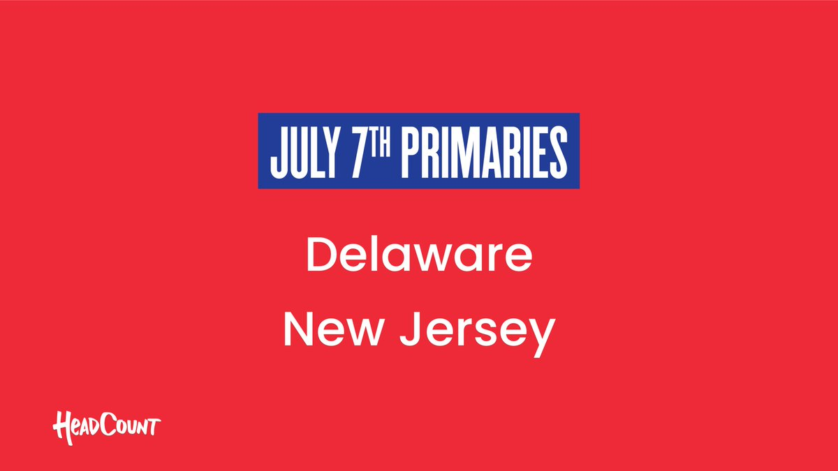 RT to remind a voter in #Delaware and #NewJersey to #VOTE today.   ✉️ Delaware - Ballots must be received by 8pm ✉️ New Jersey - Ballots must be postmarked today or in a dropbox by 8pm  https://t.co/UZn3ZeGFFJ https://t.co/fDTX6giGMo