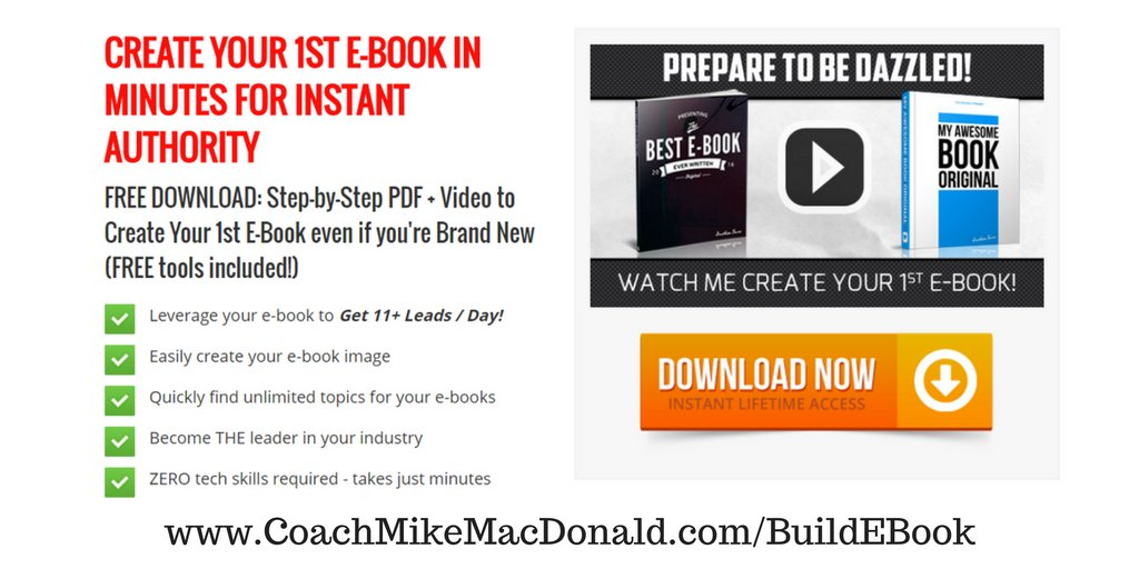 How to Create Your First Ebook in Minutes for Instant Authority  Download The Guide For Free Here:  http://Coachmikemacdonald.com/BuildEBook #onlinemarketing #Ebookpic.twitter.com/rgdObmIw0s