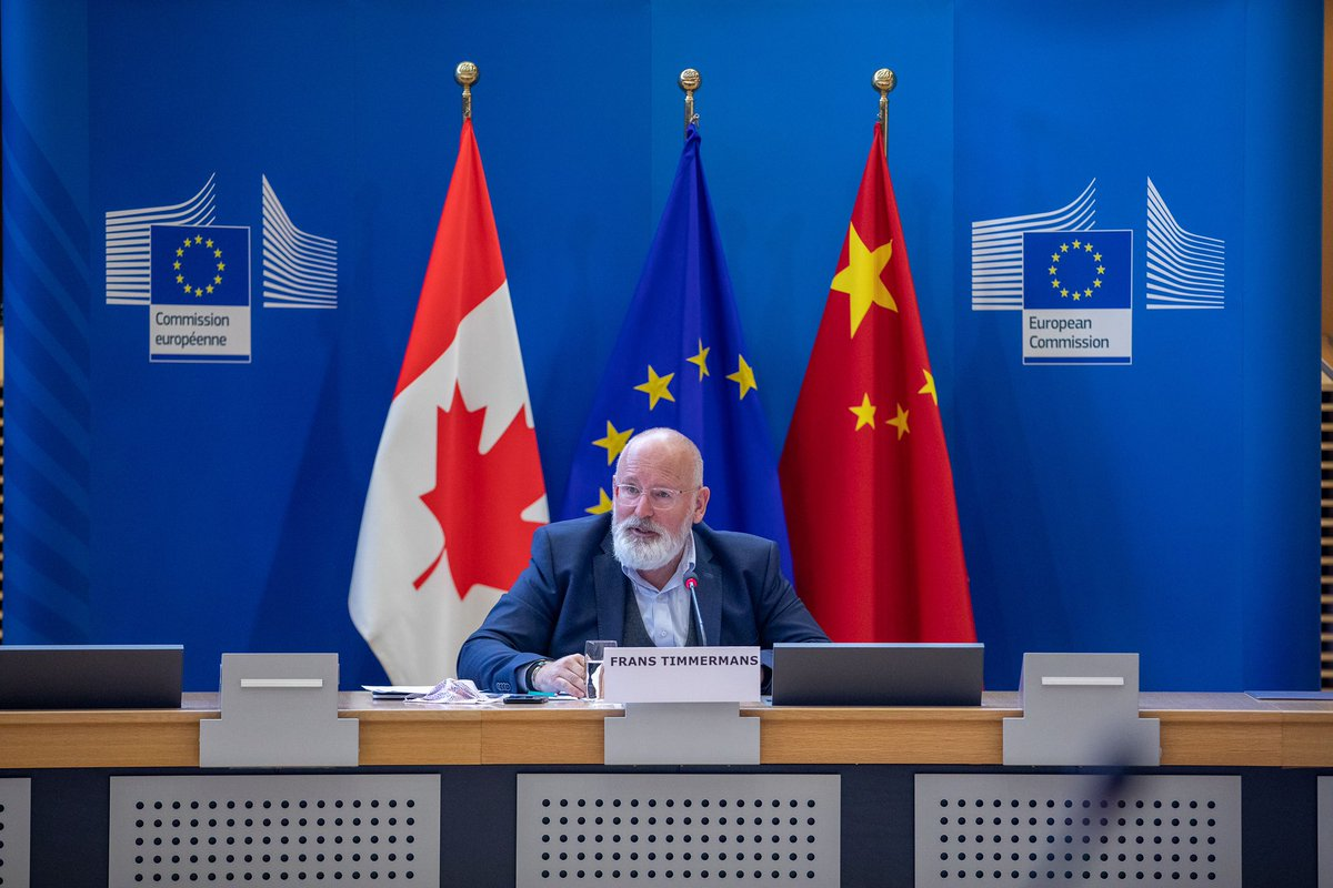 Clear ✉️ from 🇪🇺🇨🇦🇨🇳 Ministerial on #ClimateAction : Our commitment to the #ParisAgreement has not wavered. We now have a unique opportunity to #BuildBackBetter 🌱 Recovery plans must be green at heart. The 🇪🇺 is ready. Lets keep working for a better 🌍 europa.eu/!pt64Gb