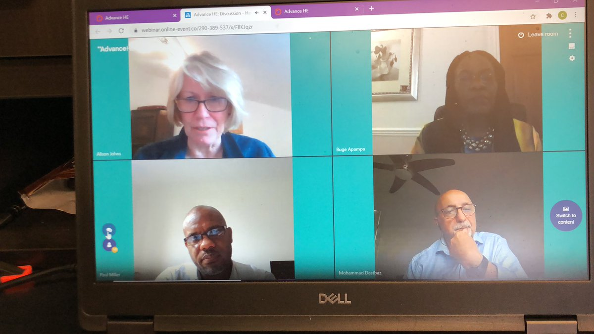 What an amazing and inspiring end to the live sessions at #TLConf20 the chat box is on fire and such an important subject - let's go and have the difficult conversations, show our activism, call out the problems and make a difference in own personal spheres @AdvanceHE https://t.co/wVUI6IfYzk