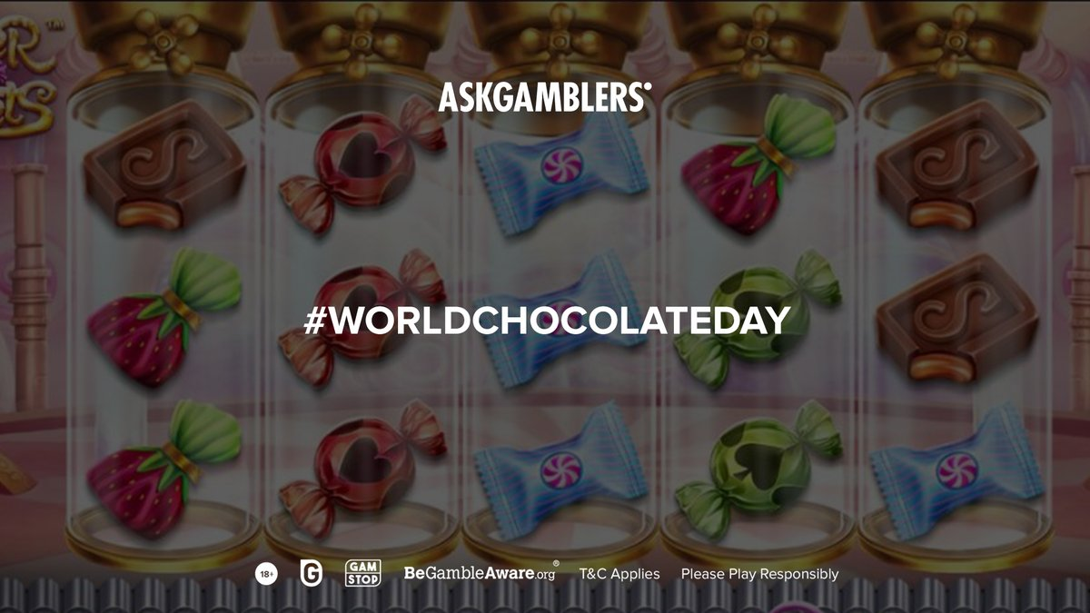 Did you know that #WorldChocolateDay is today? Treat yourself with Super Sweets slot by @BetsoftGaming Betsoft filled with candies and chocolates, and some savoury wins.🍫  Taste the sweetness in the fun mode on: https://t.co/5hgXNYusBy  #AskGamblers #slotgames #slots #bestslots https://t.co/J9mguv12nA