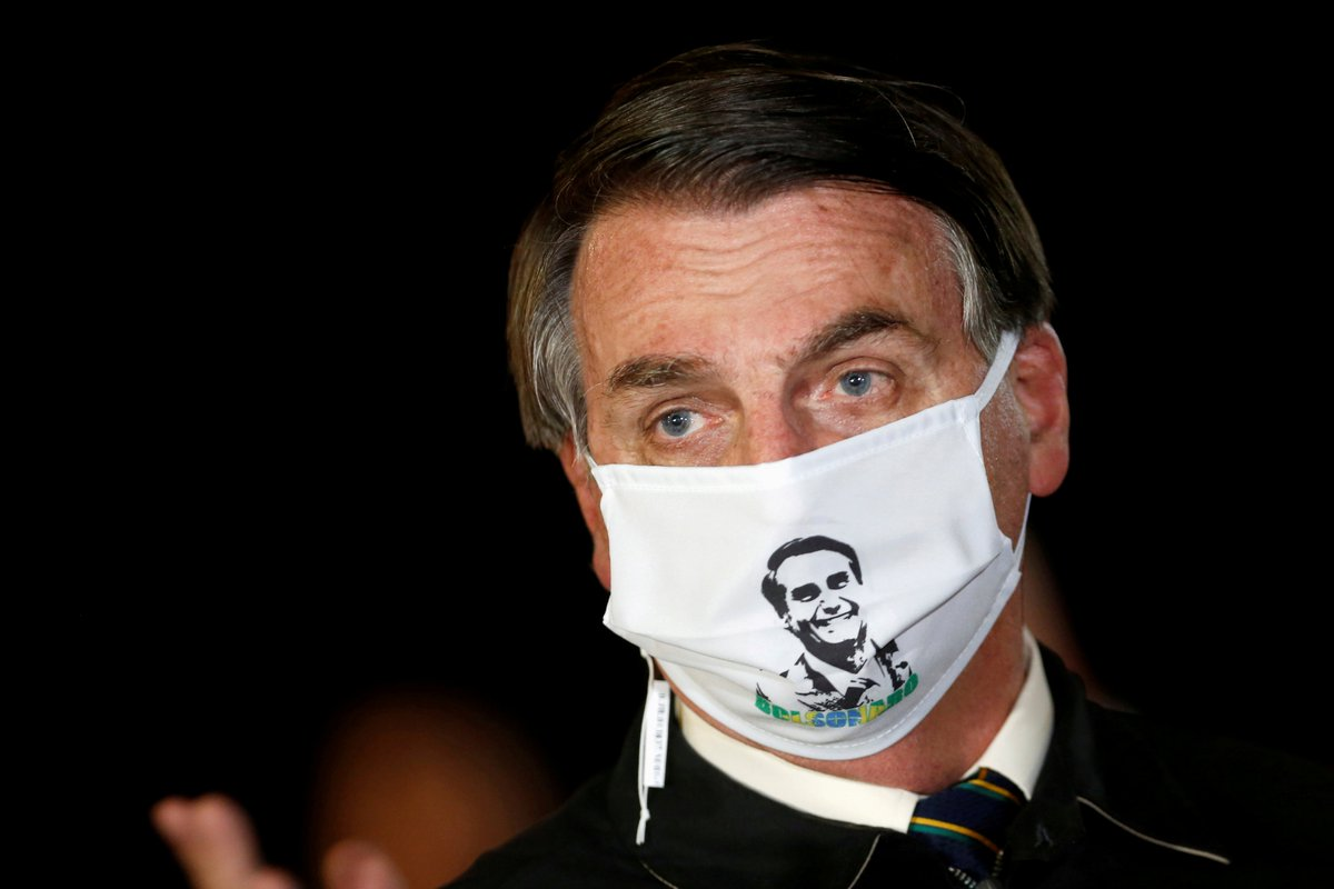 """BREAKING: Brazil's President Jair Bolsonaro tested positive for #COVID19.  He has previously called the virus a """"little flu"""" and resisted lockdown efforts. Brazil has the 2nd most cases and deaths globally. https://t.co/14784KlHWT"""