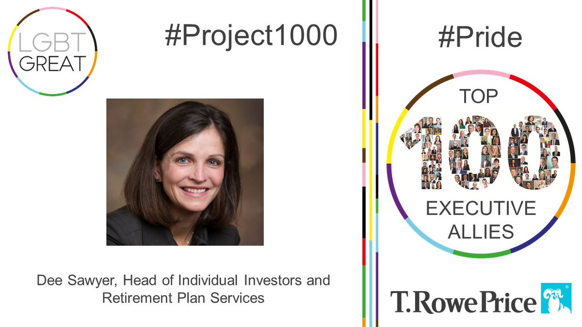 """Our firm was founded on Thomas Rowe Price, Jr.'s belief that diversity is a strength"" - Dee Sawyer, Head of Individual Investors and Retirement Plan Services, @TRowePrice #Project1000 #Pride #YouMeUsWe https://t.co/h4zmZbRJwZ https://t.co/Ne3VInfmDo"