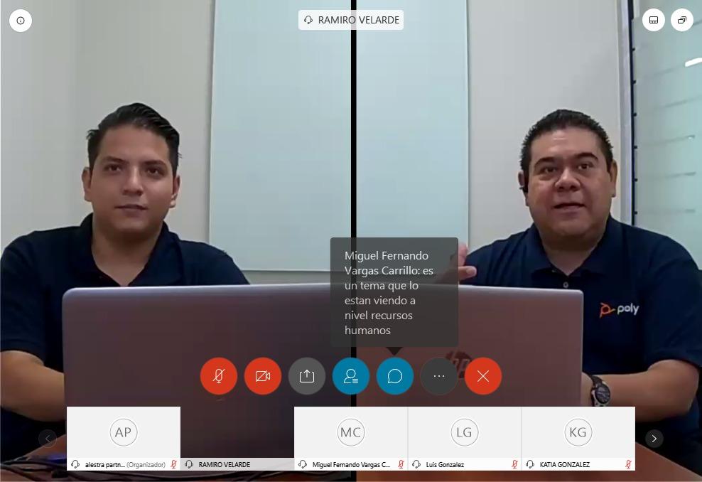 Nuestros socios de @PolyCompany nos presentaron en exclusiva #PolyStudio una herramienta inteligente e intuitiva para colaborar y debatir en vivo, lo cual la hace excelente para reuniones de trabajo y educación a distancia. #WebinarAlestra https://t.co/Cs8AsK1lGB